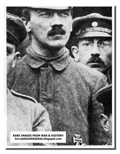 A very rare photo of Adolf Hitler from WWI