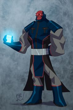 DC/Marvel Mash-up DarkSkull (Darkseid/Red Skull) - Eric Guzman