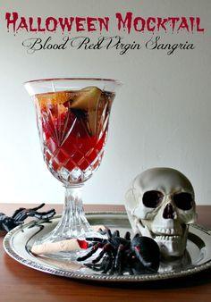 Halloween Mocktail - Blood Red Virgin Sangria