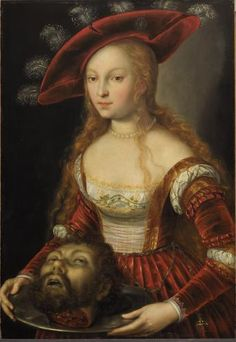 HHeintz,Joseph,the Younger Salome with the head of John Baptist. After a painting by Lucas Cranach the Elder. 1600/1605 Oakwood, 94 x 71 cm INV 862