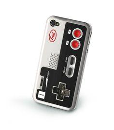 Housse Coque iPhone 4 Nintendo - Etui iPhone 4G manette Nintendo