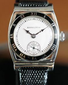 Vintage Watches Collection : 1929 Hamilton Piping Rock Solid White Gold Watch - Watches Topia - Watches: Best Lists, Trends & the Latest Styles Hamilton Watch Company, Art Nouveau, Art Deco, Rolex Watches, Wrist Watches, Vintage Watches, Gold Watch, Latest Fashion, Cufflinks