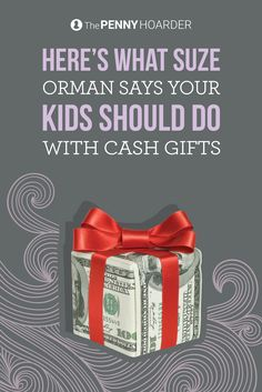 If your kids receive money from family members during the holidays, what should they do with it? Suze Orman has a few ideas for teaching kids about money using their Christmas cash. @thepennyhoarder