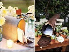 Mailbox card holder for wedding.  Style My Aisle