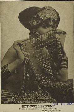 Bothwell Browne - Female Illusionist    With a yummy piece of assuit.