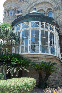 Bishop's Palace solarium.  Galveston, Texas