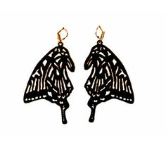 Monarch wings earrings  NYC-based Aaron Saucier creates vintage-inspired jewelry with a clever edge