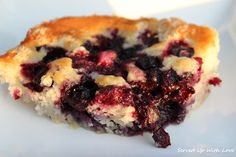 This was awesome! Will definitely be making this again! Super quick to put together too! Blueberry Cobbler