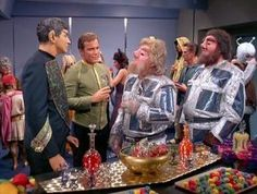 Sarek and Kirk try to maintain the peace with the Rigel Ambassadors
