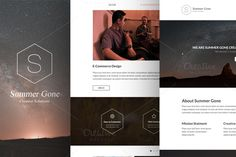 Summer Gone - One Page PSD Template by Maulana Creative on Creative Market
