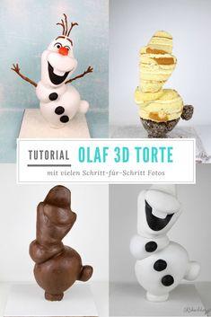 Olaf pie - Essen & Trinken / Eat & drink - Cuisine et Boissons Anti Gravity Cake, Gravity Defying Cake, 3d Cakes, Cupcake Cakes, Shoe Cakes, Pink Cakes, Bolo Olaf, Olaf Cake, Torta Baby Shower