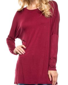 "This rich burgundy top is as nice on the skin as it is on the eyes.  It drapes perfectly over any body type and looks elegant while feeling like pajamas. It doesn't get much better than that! $17 (plus any applicable tax) and free shipping!  This top comes in sizes:  S (2-4) M (6-8)  L (10-12) Fabric: 95% Rayon, 5% Spandex  To order just comment ""Sold, size, state to ship to, and email."" Invoices are sent out Mon-Sat 9a-5p, and orders ship within 1-3 business days from time of payment.  You…"