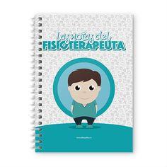 Cuaderno XL - Las notas del fisioterapeuta, encuentra este producto en nuestra tienda online y personalízalo con un nombre. Notebook, Cover, Notebooks, Report Cards, Training, Store, Physical Therapist, The Notebook, Exercise Book