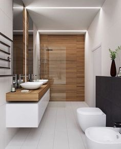 The other small bathroom design ideas are fresh and revolutionary, rethinking what we expect a bathroom design should look like. design badezimmer 10 Small Bathroom Ideas for Minimalist Houses Houzz Bathroom, Small Bathroom Tiles, Modern Bathroom Design, Contemporary Bathrooms, Bathroom Interior Design, Bathroom Goals, Interior Ideas, Bathroom Mirrors, Luxury Bathrooms