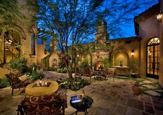 My dream courtyard/patio! - Courtyard / Backyard of a spectacular luxury estate - mediterranean - patio - phoenix - Fratantoni Luxury Estates Small Backyard Gardens, Backyard Garden Design, Modern Backyard, Rustic Backyard, Backyard Retreat, Garden Pond, Courtyard Design, Courtyard House, Patio Design