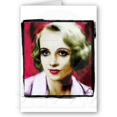 Vintage Hollywood Starlet #2 Greeting Cards