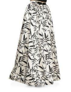 ALICE + OLIVIA Abella Pleated Ballgown Skirt