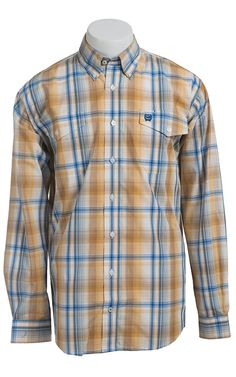 ff911908 Cinch Long Sleeved Men's Fine Weave Plaid Shirt Western Shirts, Western  Outfits, Western Apparel
