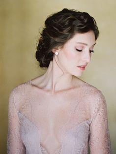 Rosy bridal beauty. Getting ready portrait. #weddingideas #naturalweddingmakeup