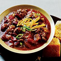 Green Chile Chili Recipe | MyRecipes.com . . . I think I will replace the kidney beans with chili beans . . . Yum!