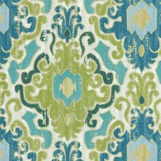 SMC Swavelle Millcreek Home Decor Print Fabric Toroli Twill Aqua. Fabric for pillow case in play room