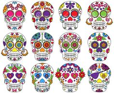 Sugar Skull clipart calavera - pin to your gallery. Explore what was found for the sugar skull clipart calavera Day Of Dead, Day Of The Dead Party, Day Of The Dead Skull, Painted Pumpkins, Painted Rocks, Halloween Crafts, Halloween Decorations, Halloween Clipart, Halloween Sale