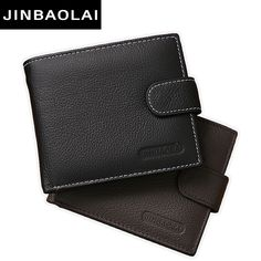New Men Wallets Leather Genuine With Coin Bag JINBAOLAI Male Wallet Casual Purse Hot Sale Card Holder Wallet Men Carteira Wallet