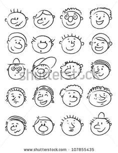 Illustration Kids Set of handdrawn cartoon man faces with expressions Cartoon Faces Expressions, Funny Cartoon Faces, Drawing Cartoon Faces, Cartoon Man, Guy Drawing, Cartoon Expression, Cartoon Ideas, Drawing Expressions, Drawing Tips
