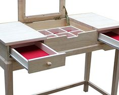 Superbe International Concepts Unfinished Vanity Table //Price: $155.53 U0026 FREE  Shipping // #