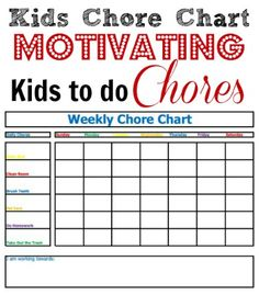 Using a Kids Chore Chart can help keep your kids on track with their chores as well as help motivating them to get their chores done each week! Find out how!
