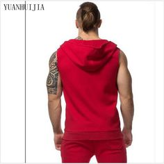 Buy Men cotton hoodie sweatshirts fitness clothing Gym bodybuilding tank top men Sleeveless sport Tees Shirt Casual. Click visit to read descriptions
