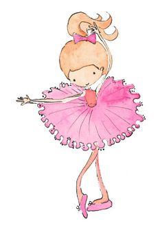 Pink Zoe Ballet Girl Print from Little Choux