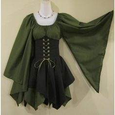 Wood Elf Cincher Set - renaissance clothing, medieval, costume and other apparel, accessories and trends. Browse and shop 8 related looks. Costume Renaissance, Renaissance Clothing, Diy Medieval Costume, Renaissance Fairy, Elven Costume, Faerie Costume, Toga Costume, Peacock Costume, Green Costumes