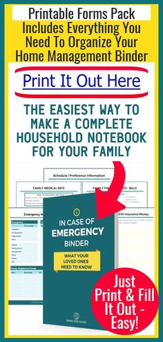 How To Organize Important Documents in an Emergency Binder or Household Notebook - Decluttering Your Life Emergency Binder, In Case Of Emergency, Emergency Preparedness, Household Notebook, Household Binder, Hydrogen Peroxide Uses, Family Schedule, Home Binder, Home Management Binder