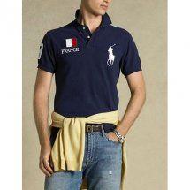 bandiera polo ralph lauren uomo no 3 zaffiro francia.Camicia blu POLO casual e semplice, vi darà una fresca estate. come contatto:Annapolo888@gmail.com