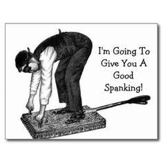 Good Spanking Postcard