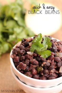 Quick and Easy Black Beans from Six Sisters' Stuff