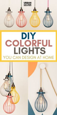 Design Your Own Colorful Lights For Children Room. You Can Take Your Nursery Room Lighting To A Whole New Level With These. These Diy Cage Lights Look Beautiful In Bedrooms, Living Rooms And Office Too. Kids Lighting, Living Room Lighting, Bedroom Lighting, Cool Lighting, Lighting Ideas, Office Lighting, Ceiling Lighting, Cage Pendant Light, Cage Light