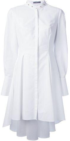 Studded Collar Shirt Dress - Lyst