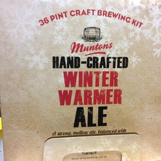 Muntons Premium Gold Hand Crafted Winter WARMER real by Homebrew2u