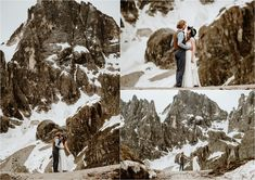 The bride and groom dance on a ridge in the Dolomites with the snow-capped mountains behind them. Photography by Wild Connections Photography Elope Wedding, Italy Wedding, Intimate Weddings, Real Weddings, Mountain Elopement, Elopement Inspiration, Day Hike, Wedding Night, Amazing Adventures