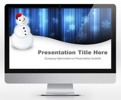 Free Snowman PowerPoint template is a free template for Microsoft PowerPoint with an awesome blue background created for Christmas & Holiday