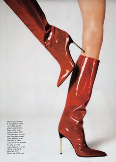 Gucci boots by Steven Meisel for Vogue US July 1997.