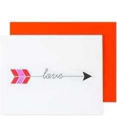 Love Arrow Valentine's Day/anniversary card   Pei Design.