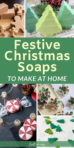 Handmade Christmas Soap Recipes - Festive Christmas Soaps to Make at Home Christmas Soap, Little Christmas Trees, Homemade Christmas Gifts, Homemade Gifts, Handmade Christmas, Christmas Crafts, Christmas 2019, Homemade Cards, Diy Gifts To Sell