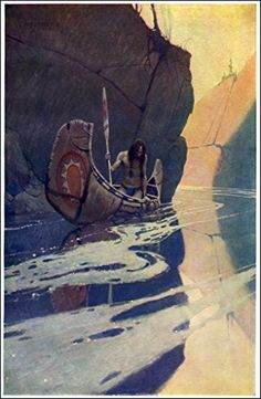 The Indian in His Solitude : N.C. Wyeth circa 1915 Fine Art Giclee Archival Reprint Company