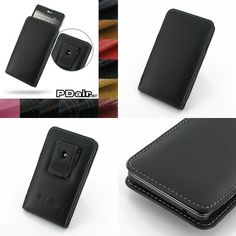 PDair Leather Case for LG Optimus G E971 E973 E975 LS970 - Vertical Pouch Type Belt Clip Included (Black)