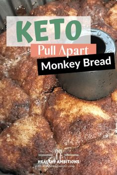 Youll love this amazing pull apart keto monkey bread. With its sweet dough coated in cinnamon and sweetener and drizzled with a caramel sauce your taste buds will be in heaven! Keto Desserts, Mini Desserts, Keto Dessert Easy, Keto Snacks, Holiday Desserts, Dessert Recipes, Dessert Healthy, Easter Desserts, Low Carb Bread