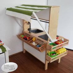An Ikea youngsters' space continues to fascinate the kids, since they are offered a great deal more than kids' Ikea Loft Bed Hack, Ikea Hack Kids, Ikea Hacks, Organisation Ikea, Ikea Kids Kitchen, Ikea Duktig, Ikea Toys, Childrens Kitchens, Kids Room Furniture