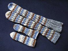 Stripete snurrsokker i duse farger, til barn og til voksne. (Bilde fra Pinterest/craftmeister.mcuniverse.com)